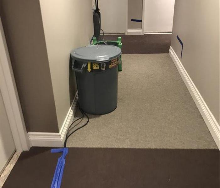 Condo Water Damage in San Diego Before